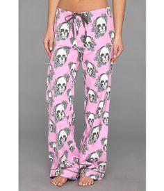 P.J. Salvage Floral Skull Cotton Flannel Pajama Pant