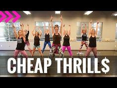 """""""CHEAP THRILLS """" Sia ft. Sean Paul - Dance Fitness Workout Valeo Club - YouTube"""