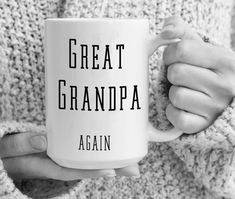 Great Grandpa Again Mug Pregnancy Announcement Great