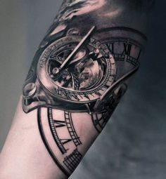Arm Tattoos - Clock