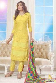Yellow Party Wear Designer Salwar Kameez  #heenakhandress, #monsoondress, #khandresses, #salwarsuitsdress, #salwarkameez, #partyweardress, #partywearsalwarkameez, #chiffondupatta. #yellowrdress  http://www.pavitraa.in/store/embroidery-salwar-suit/   Contact Us : +91-7698234040 (WhatsApp)