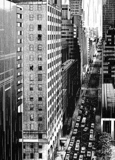city Cityscape Drawing, City Drawing, Background Drawing, City Background, Environment Concept Art, Environment Design, Perspective Sketch, Building Drawing, Sketchbook Drawings