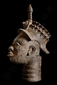 Ethnographic Art Image Series / Portrait of Bronze Ife–Yoruba Royal Head / Tribal Art–African Art / High Res Print / Fine Art Photography by PhotoClique on Etsy