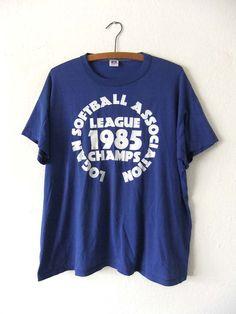 35e30f7ff Softball Champions Soft Thin T Shirt - Rec League 80s Sporty Throwback  Threadbare Vintage Tee - Mens XL