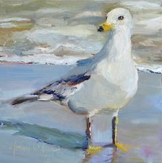 Gull On The Loose!, painting by artist Norma Wilson
