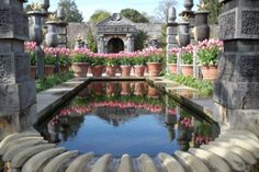 The beautiful gardens at Arundel Castle.