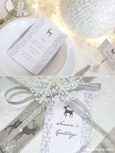 Bird's Party Blog: White Winter Wonderland Christmas Party