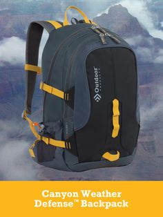 Outdoor Products® Canyon Weather Defense™ Backpack.  http://outdoorproducts.com/canyon-weather-defense-backpack/