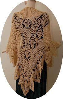 Crochet N Beads: Get to share..... WEEEEEEEEE!  My Romantic Pineapple Shawl