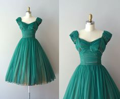 1950s dress / vintage 50s dress / Fool's Paradise by DearGolden