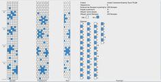6 around - Winter Wonderland/Snowflake(s) Bead Crochet Patterns, Crochet Diagram, Peyote Patterns, Crochet Blanket Patterns, Bracelet Patterns, Beading Patterns, Crochet Beaded Bracelets, Handmade Jewelry Bracelets, Bead Crochet Rope