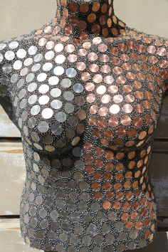 Mosaic art made with glass, tile, and beads. Mosaic Crafts, Mosaic Art, Mosaic Glass, Mosaics, Mannequin Art, Dress Form Mannequin, Penny Decor, Mosaic Flower Pots, Pottery Sculpture