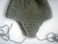 How to crochet a hat with ear flaps--instructions for adult size