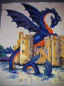 """Intro to Intarsia Crochet! By Tracy of CrochetHappy, guest post on Moogly!  Photo: Crochet Dragon Blanket by """"jetsmillion"""" at Deviant Art"""