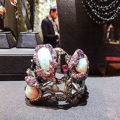 Otherworldly opals by @arunashibh at #Couture2015. #ShowstopperSunday #TheStoneSet