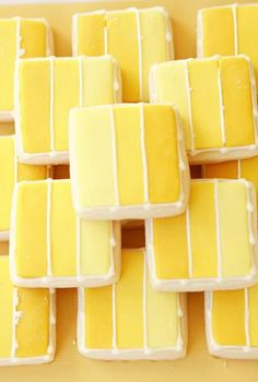 """Looks and sounds delicious: """"ultimate lemon square cookies."""" Use colors and flavors that work for the party, shower, theme, etc. Lemon Desserts, Lemon Recipes, Cookie Desserts, Cupcake Cookies, Just Desserts, Cookie Recipes, Delicious Desserts, Cupcakes, Dessert Recipes"""