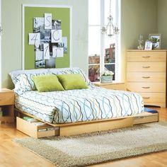 Studio Queen Storage Platform Bed $241.50