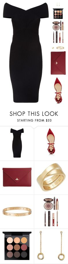 """""""Sin título #4904"""" by mdmsb ❤ liked on Polyvore featuring Maje, Christian Louboutin, Vivienne Westwood, Cartier, Charlotte Tilbury and MAC Cosmetics"""