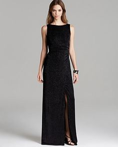 Laundry by Shelli Segal Sparkle Sleeveless Gown | Bloomingdale's
