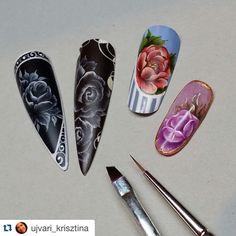 #Repost @ujvari_krisztina ・・・ #nail#nails#nailart#naildecoration#nailswag#nailstagram#onestroke#chinesepainting