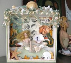 """This shadow box relates to the technique of assemblage because it is a 3D piece made from random/""""found"""" objects"""
