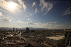 Sunset over Red Rocks Canyon – Highway - Las Vegas, Nevada, USA