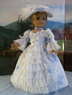 Williamsburg Sapphire Fits American Girl Elizabeth Felicity | eBay