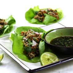 Vietnamese-Style Lettuce Cups ~ recipe ~ appetizer ~ Menu Musings of a Modern American Mom: