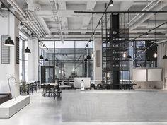 antiga fábrica vira restaurante com estilo industrial