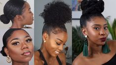 Easy Protective Natural Updo Bun Hairstyles Natural Bun Hairstyles, Natural Updo, Natural Hair Styles, Black Women Hairstyles, Hair Videos, Updos, Easy, Nature, Natural Hairstyles