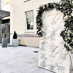 marble escort wall | Dallas wedding built by Bash Co + Events