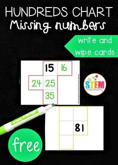 Math Challenge, Challenge Cards, Hundreds Chart, 100 Chart, Second Grade Math, Grade 2, Math Centers, Activity Centers, Math Intervention