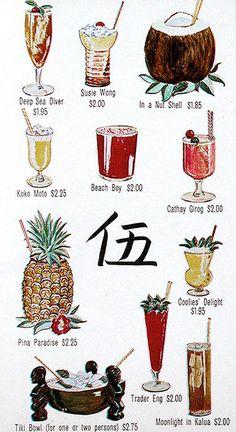 drinks, anyone?  #vintage #tiki #hawaii