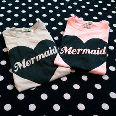 Oversized MERMAID shirt in Pink or Gray size S, M, or L