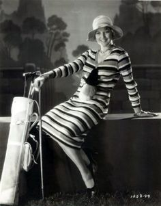 Thelma Todd gets ready to hit the links, 1930. #vintage #1930s #golf #actresses