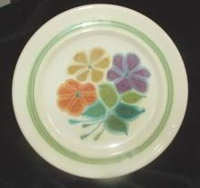 """Franciscan """"Floral"""" bread plate.  $5 on GoAntiques.com.  #Vintage Dinnerware #Franciscan """"Floral"""" #bread plate"""
