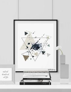 Minimalist poster printable print Geometric print by ArtFilesVicky Printable Art, Printables, Triangle Art, Minimalist Poster, Illustrations And Posters, Amazing Art, Digital Prints, Abstract Art, Art Pieces