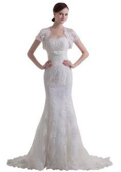 GEORGE BRIDE luxury vintage capped sleeves mermaid lace Wedding dress     #Bride, #Capped, #Dress, #GEORGE, #Lace, #Luxury, #Mermaid, #Sleeves, #Vintage, #Wedding