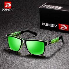 5cd547881e6 DUBERY 2018 Sport Sunglasses Polarized For Men Sun Glasses Square Driving  Personality Color Mirror Luxury Brand