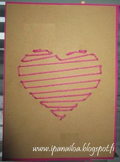 Nail String, Valentines Day, Cards, Valentine's Day Diy, Maps, Playing Cards, Valentine Words, Valentines, Valentine's Day