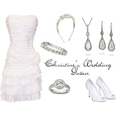 """""""Christine's Wedding Gown"""" by emilygracey on Polyvore"""
