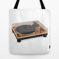 Golden Turntable Tote Bag #turntable #gold #technics1200 #cgi #cg #render #c4d #3d #rickardarvius #totebag #cinema4d #fashion #society6 #society6store