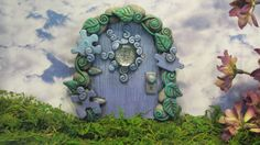 Magical Blue Autism Awareness Fairy Door by dragonsdreamsdesigns, $25.00