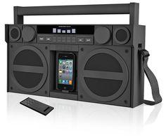 iHome IP4GZC FM 30-Pin iPod iPhone Speaker Dock Boombox