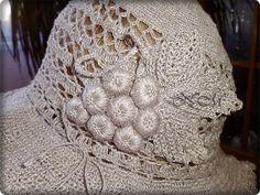 Шляпка из льна