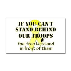 Behind The Troops Rectangle Decal