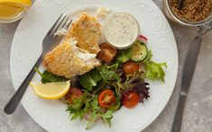 Served with a creamy tartar sauce, our breaded haddock fillets are hearty, rich and easy to prepare. The perfect solution for a quick week-night supper. Sauce Tartare, Tartar Sauce, Sliced Tomato, Filets, Balsamic Vinegar, Salad Bowls, Cobb Salad, Cucumber, Seafood