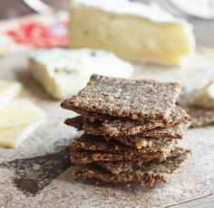 Low Carb Rosemary & Sea Salt Flax Crackers - I Breathe... I'm Hungry...