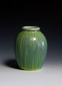 Marian Baker. glaze application