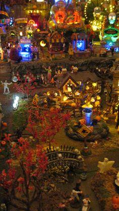 Lemax and Dept. 56 Halloween Village